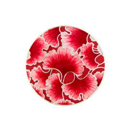 Rode Emaille Bloem Munt van Zilver van MY iMenso