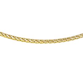 Elegant Vossestaart Collier van Gepolijst Geelgoud
