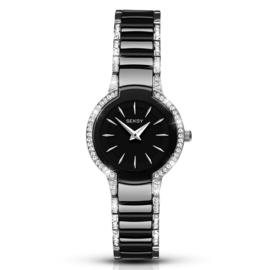 Zilverkleurig met Zwart Seksy Sekonda Dames Horloge