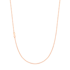 Super Stylish Roségoudkleurige Ketting met Mini Infinity