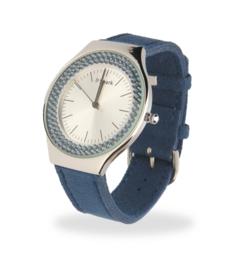Centella Horloge met Grijsblauw Lederen Horlogeband van Spark