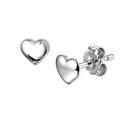 Zilveren Hartvormige Oorknoppen van Gerhodineerd Zilver