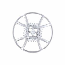 Zilveren Novem Square 33mm Insignia met Zirkonia's van MY iMenso