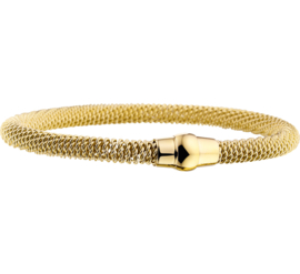 Goudkleurige Edelstalen Armband voor Dames - Armband Magneet