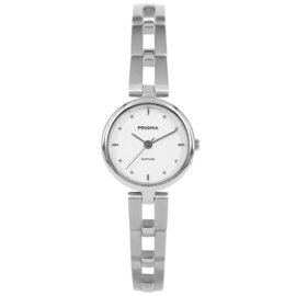 Zilverkleurig Dames Horloge met Opengewerkte Schakelband