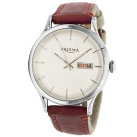 Dutch Classics 50's Heren Horloge met Rood Lederen Band