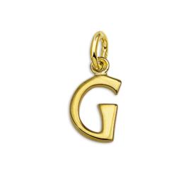 Gouden Letter Bedel Hanger – G
