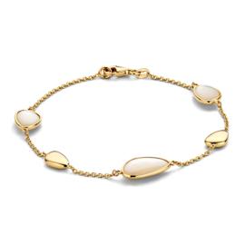 Excellent Jewelry Geelgouden Armband met Parelmoer