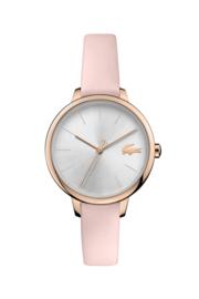 Lacoste Roségoudkleurig Nikita & Cannes Dames Horloge met Roze Leder