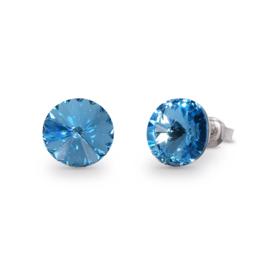 Candy Oorstekers met Felblauw Swarovski Kristal