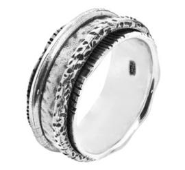 Rijkelijk Gedecoreerde Fantasie Ring van Geoxideerd Zilver