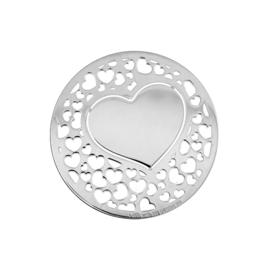 Romantische Zilveren Hart Munt van MY iMenso