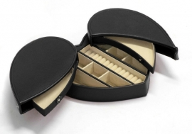 Zwarte Hartvormige Sieradendoos / DAVIDTS