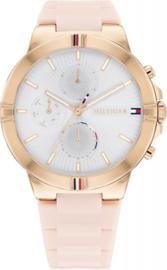Tommy Hilfiger Roségoudkleurig Dames Horloge met Roze Horlogeband