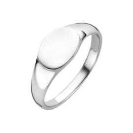 Zilveren Ovalen Graveer Ring | Ring met Initialen
