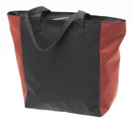 Zwarte Shopper Tas met Oranje Kleur van Davidts 70608079