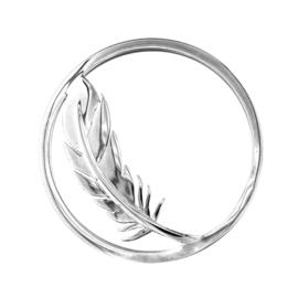 Zilveren Cover Munt met Elegante Veer van MY iMenso
