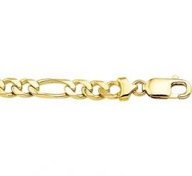 Brede Gouden Figaro Schakelarmband | 6,8 mm 22 cm