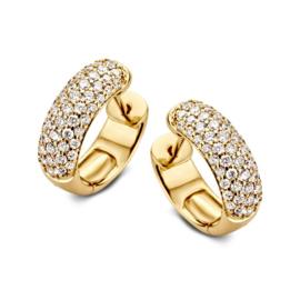 Excellent Jewelry Luxe Gouden Oorringen met 0,96crt. Diamanten