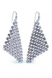 Small Chic Witte Swarovski Oorhangers van Spark Jewelry