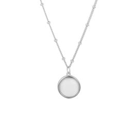 Zilveren Collier met Witte Agaat Edelsteen