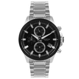 Prisma Zilverkleurig Gents Heren Horloge met Edelstalen Horlogeband