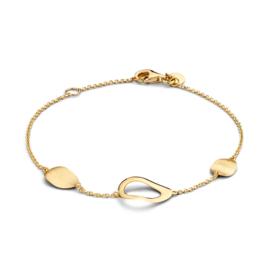 Excellent Jewelry Geelgouden Armband met Opengewerkt Kopstuk