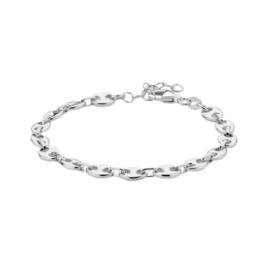 Prachtige Zilveren Armband met Schakelmotief