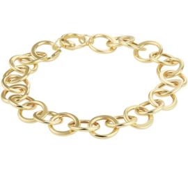 Geelgouden Draadschakel Armband