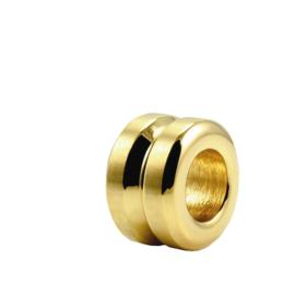 DISX Double Round Bedel in Goud Kleur