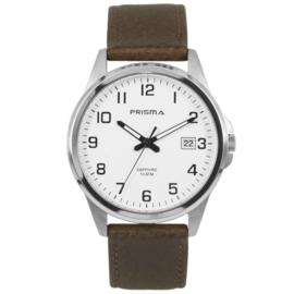 Titanium Prisma Heren Horloge met Bruine Horlogeband P.1723.444G