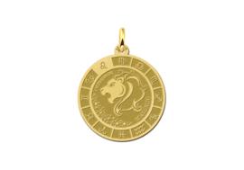 Gouden Leeuw Sterrenbeeld Bedel met Naam GHS089 | Names4ever