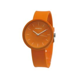 Prisma Oranje Unisex Horloge met Oranje Band