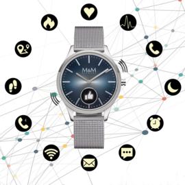 Hybrid Smart Watch met Milanese Horlogeband van M&M