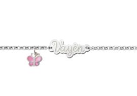 Names4ever Zilveren Baby Armbandje met Naamplaatje