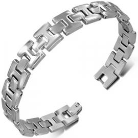 Zilverkleurige H-I schakel-armband