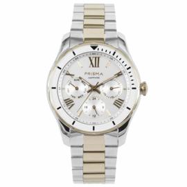 Modern Goud- en Zilverkleurig Horloge voor Dames