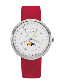 M&M Horloge met Felrode Horlogeband voor Dames