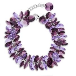 Spark FrouFrou Armband met Iris, Violet en Amethist Glaskristallen Glaskristallen