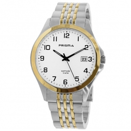 Prisma Horloge P.1797 Heren Stainless Steel Saffierglas