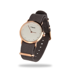 Sencillo Horloge met Grijze Horlogeband van Spark Jewelry