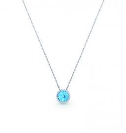 Tiny Bonbon Blauwe Swarovski Ketting van Spark Jewelry