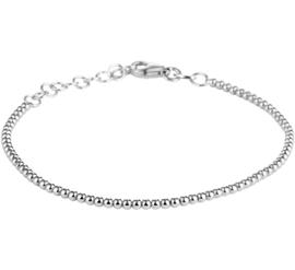 Zilveren Bolletjes Armband met Rhodium