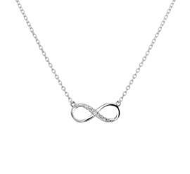 Infinity Zirkonia Hanger Collier van Zilver