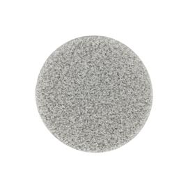 Zilverkleurige Glas Munt met Gediamanteerde Bewerking
