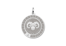 Zilveren Ram Sterrenbeeld Bedel met Naam ZHS085 | Names4ever