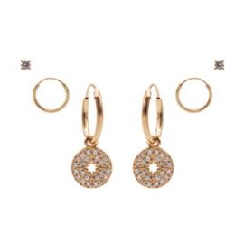 Karma Jewelry – Zesdelige Morningstar Earparty Set - Rosé