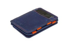 Blauw met Oranje Hunterson Magic Coin Wallet