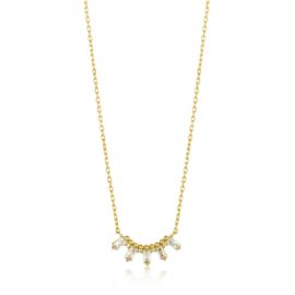 Goudkleurige Glow Solid Bar Necklace van Ania Haie