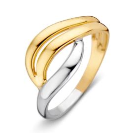 Excellent Jewelry Bicolor Ring met Abstract Ontwerp